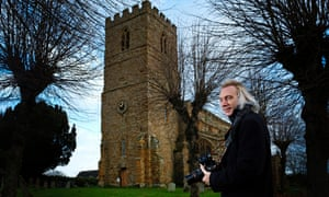 Cameron Newham outside All Saints Church in Norton, Northamptonshire.