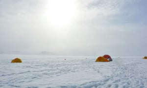 The camp of the ice shelf team in July 2018.