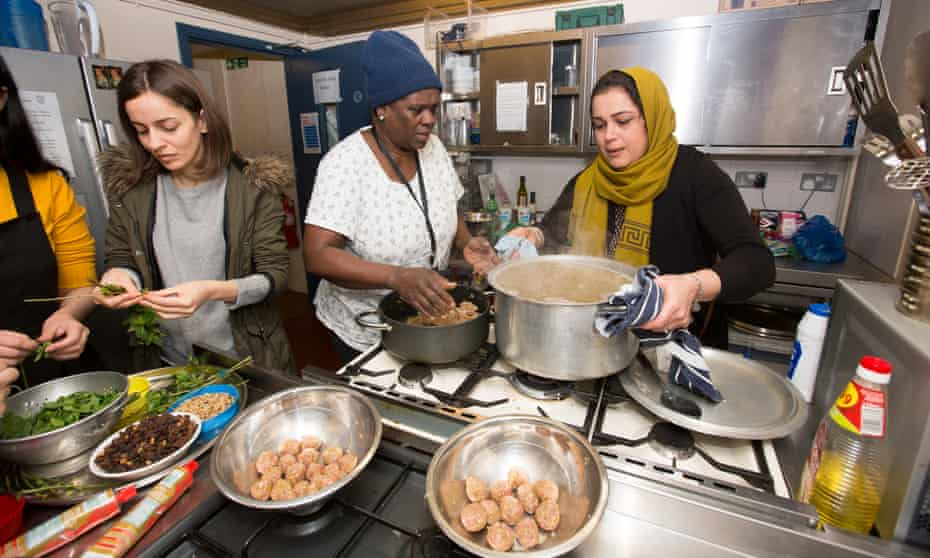Women in the kitchen at Migrateful in London