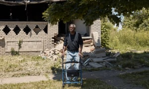 Albert Pickett at his fire damaged home in Cleveland on 16 June
