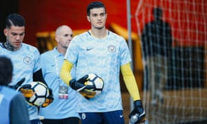 Aro Muric could be in Pep Guardiola's squad to face Wolves on Saturday.