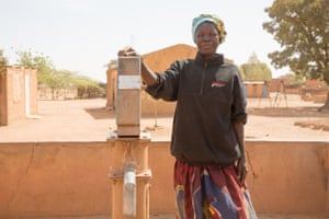 Christine Zoungrana has been selling water at a borehole in Yamtenga district, Ouagadougou, for 12 years