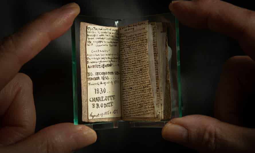 Ann Dinsdale, curator at the Brontë Parsonage Museum, holds the rare Charlotte Brontë book, which was bought for €600,000.