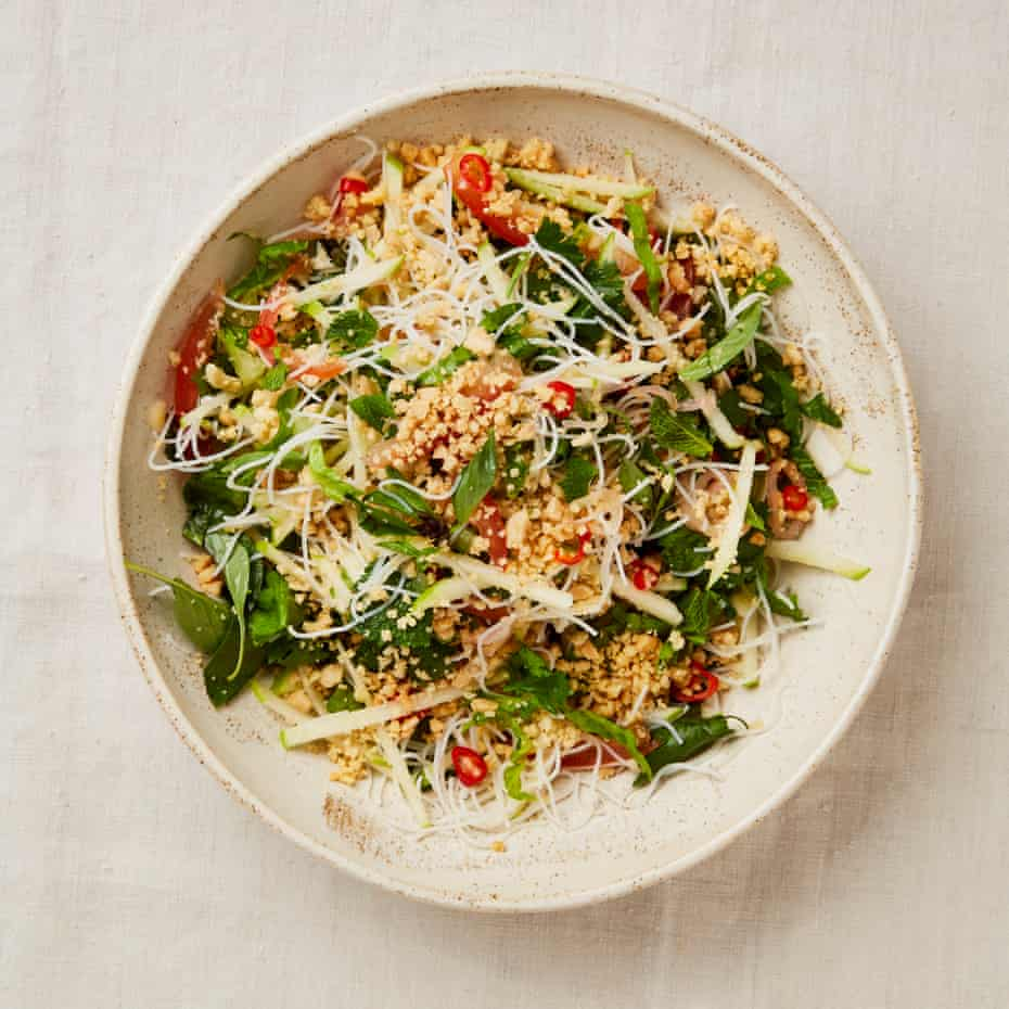 Mark Diacono's spicy herb and noodle salad.