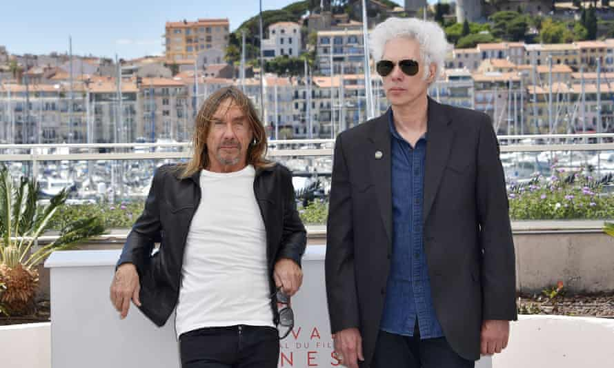 Iggy Pop and director Jim Jarmusch in Cannes.