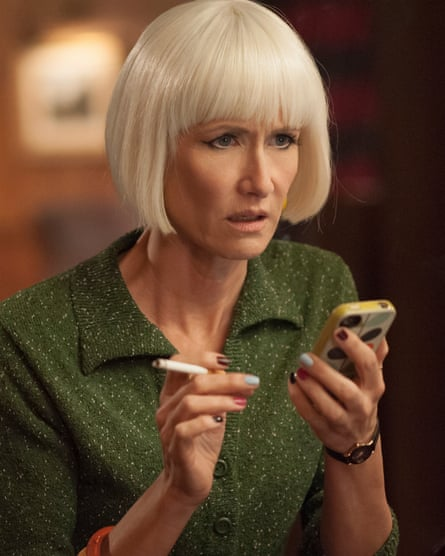 Diane (Laura Dern) likes a sharp bob and multi-coloured nails.