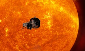 """Solar Probe Plus<br>Undated handout image issued by NASA courtesy of Johns Hopkins University Applied Physics Laboratory of an artist's impression of the Solar Probe Plus spacecraft approaching the sun. PRESS ASSOCIATION Photo. Issue date: Wednesday May 31, 2017. The US space agency said the Solar Probe Plus, which will help """"revolutionise our understanding of the Sun"""", is expected to launch in the summer of next year. See PA story SCIENCE Sun. Photo credit should read: Johns Hopkins University Applied Physics Laboratory/NASA/PA WireNOTE TO EDITORS: This handout photo may only be used in for editorial reporting purposes for the contemporaneous illustration of events, things or the people in the image or facts mentioned in the caption. Reuse of the picture may require further permission from the copyright holder."""
