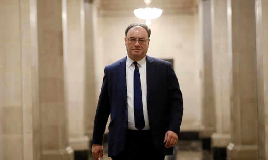 Andrew Bailey, the Bank of England's governor.