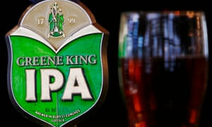Greene King beer pump and pint of beer are seen in a pub in central LondonA Greene King beer pump and pint of beer are seen in a pub in central London July 2, 2008. British pubs group Greene King reported a 2 percent increase in full-year profit on Thursday as a 31 percent rise in food sales offset the impact of a smoking ban and consumer downturn. Picture taken July 2, 2008. REUTERS/Luke MacGregor (BRITAIN)