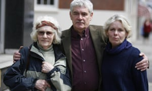 Daniel Morgan's family: his mother Isobel Hulsmann, sister Jane Royds and brother Alastair Morgan.