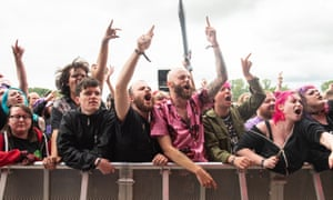 The three-day festival is running as part of a government pilot and has 10,000 rock fans in attendance.