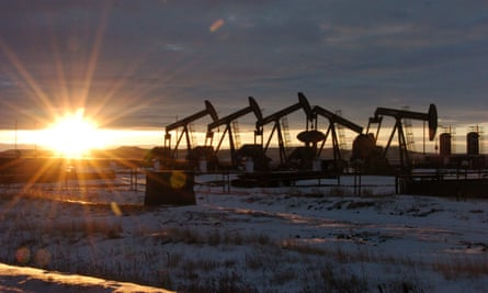 Some of the 60 rigs surrounding McKenzie County in western North Dakota.