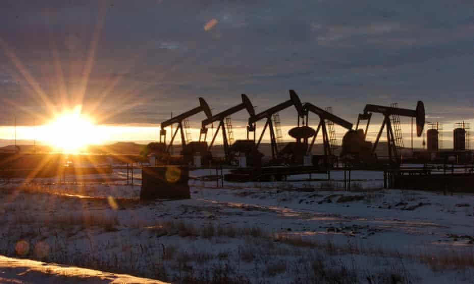 Some of the 60 rigs surrounding McKenzie County in western North Dakota.