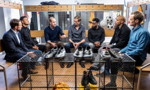 Danny Rose, third right, takes part in a BBC documentary called A Royal Team Talk: Tackling Mental Health.