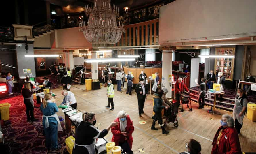 A former nightclub has been turned into an NHS vaccination centre in St Albans, Hertfordshire.