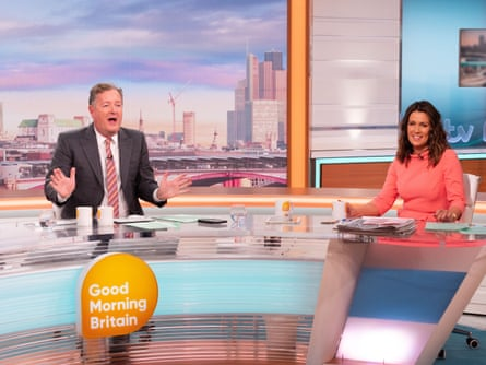 Piers Morgan and his co-host, Susanna Reid, on Good Morning Britain