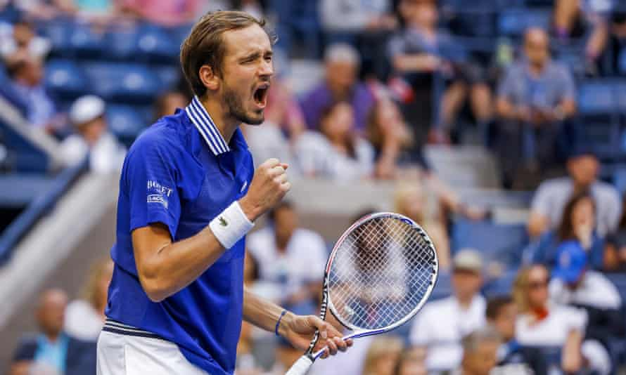 Daniil Medvedev, the No 2 seed, has conceded only one set on his way to the US Open final.