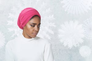 Nadiya Hussain photographed in London for OFM on 9 November 2018. Makeup Heather B using Bobbi Brown; Styling Hope Lawrie; dress by Khaite