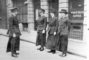 Female officers being inspected