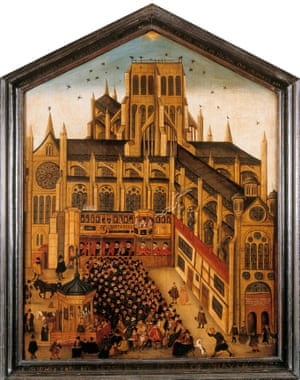 Old St Paul's Diptych by John Gypkin, 1616