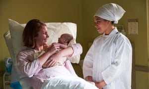 Hospital births – what's not to love? ... Mavis Hollier (Bronwyn James) and Lucille Anderson (Leonie Elliott) in Call the Midwife.