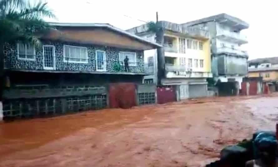 A shot from a video showing the mud.