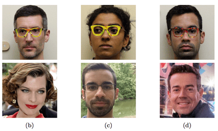 Researchers wearing glasses