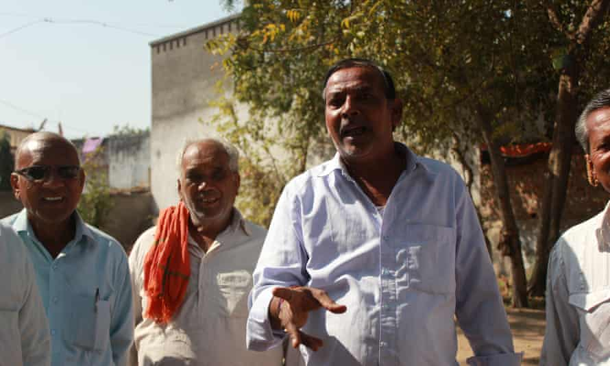 Dara Singh, the village council head of Nasmed village in Gujarat state, India, which is resisting the state government's efforts to urbanise