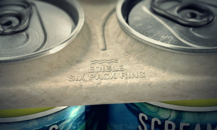 Florida Brewery Creates Edible Beer Holders To Save Marine Life - These six pack rings feed sea creatures rather than harm them