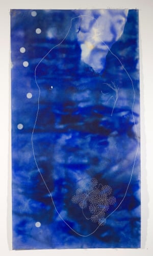 Judy Watson, grandmother's song 2007. Pigment and pastel on canvas.