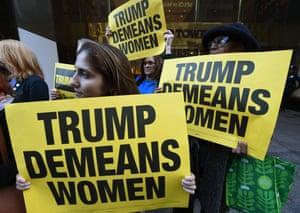 Donald Trump women protest