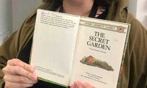 Zoe Andrews's childhood copy of The Secret Garden.