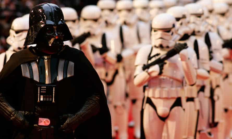 Forcing it … Darth Vader and Storm Troopers arrive for the UK premiere of Revenge of the Sith in London in 2005.