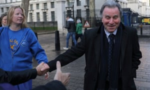 Oliver Letwin greets supporters in Whitehall after his amendment succeeded in the Commons.