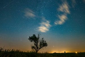 A shooting star over Poznań County in Jankowo, Poland