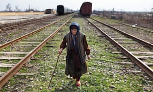 An internally displaced woman living in a camp on the contested Armenian-Azerbaijan border.