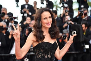 US actress Andie MacDowell poses as she arrives on May 22, 2017 for the screening of the film 'The Killing of a Sacred Deer'