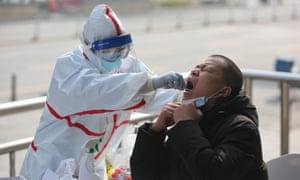 Coronavirus testing in Wuhan last week.