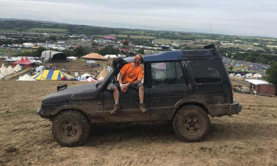 I like mud … backstage driver Garthy