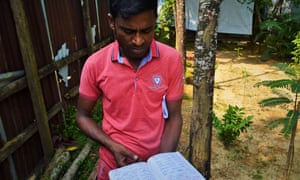 Kamal Hossan, who ran a lost-and-found booth for separated Rohingya families in Kutupalong camp, Cox's Bazar, Bangladesh.