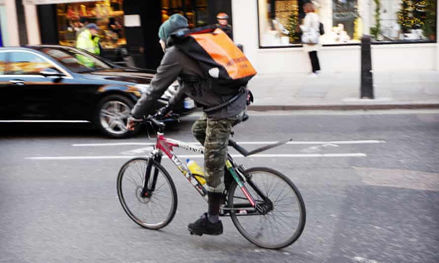 A courier in central London.