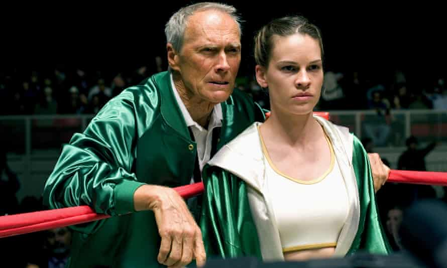 With Clint Eastwood in Million Dollar Baby, 2004.