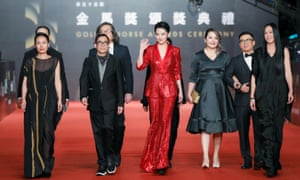 Glamorous event … on the red carpet of the 2018 Golden Horse awards ceremony in Taipei.