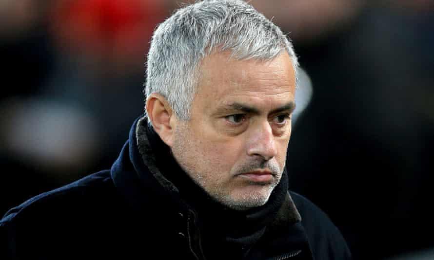 José Mourinho cuts a concerned figure at Anfield