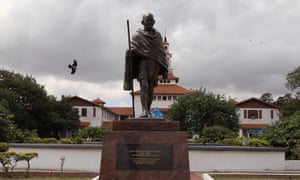 The Ghana university Gandhi statue, a focus for claims that the Indian leader was racist towards black South Africans.