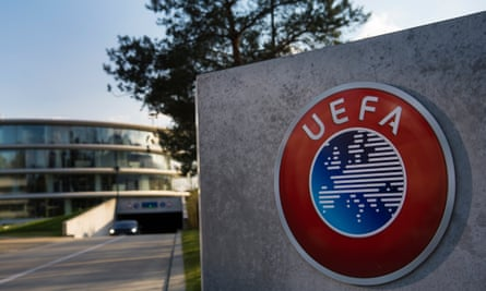 Uefa's headquarters in Nyon, Switzerland. Owners of top clubs will temporarily be permitted by Uefa's financial fair play rules to put more money into their clubs.