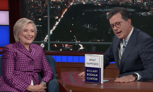 'When you face dangerous situations, like what is happening in North Korea...make it clear your first approach should always be diplomatic'...Hillary Clinton to Stephen Colbert