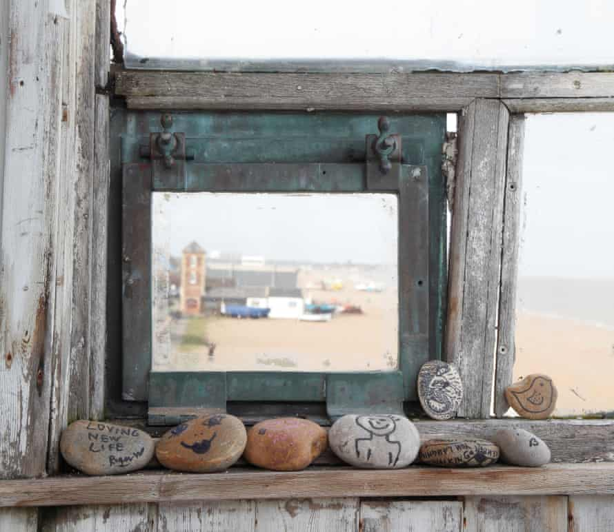 The view from the tower along Aldeburgh beach