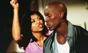 Tyrese Gibson, as Jody, a father-of two still living with his mother, and Taraji P Henson in John Singleton's Baby Boy, 2001.