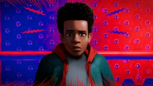Miles Morales, voiced by Shameik Moore, in a scene from Spider-Man: Into the Spider-Verse.